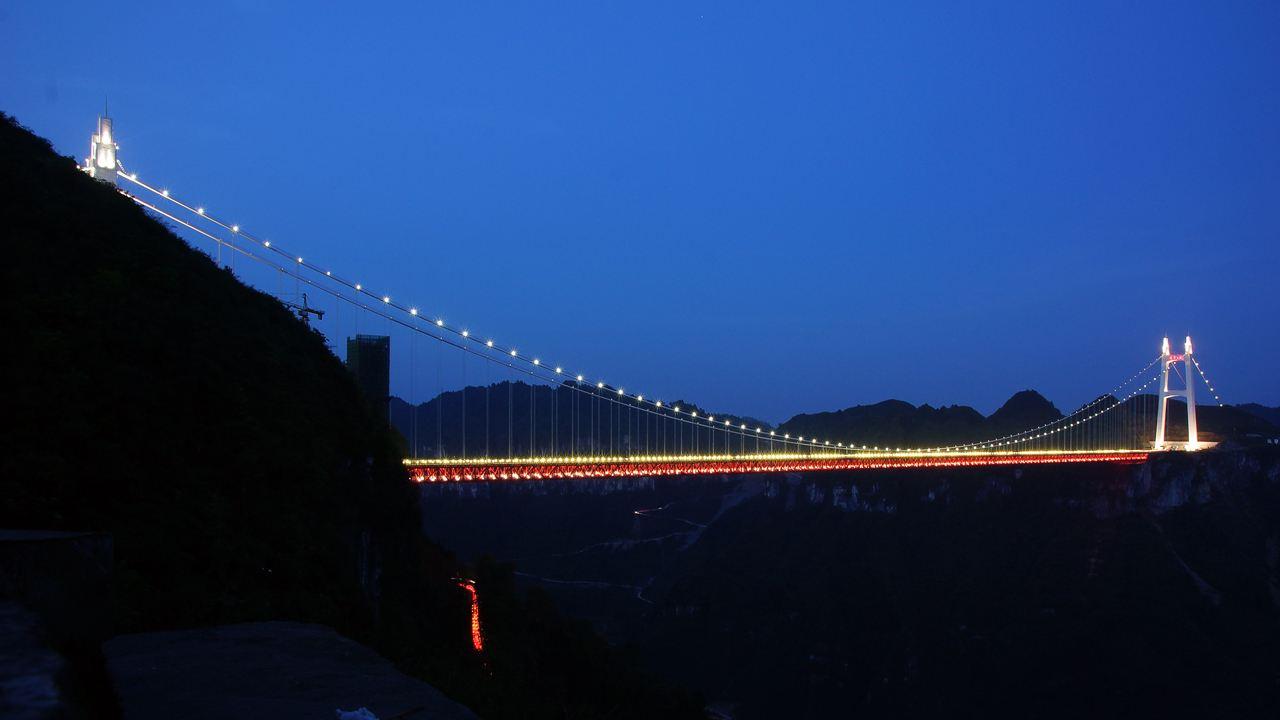矮寨大桥夜景