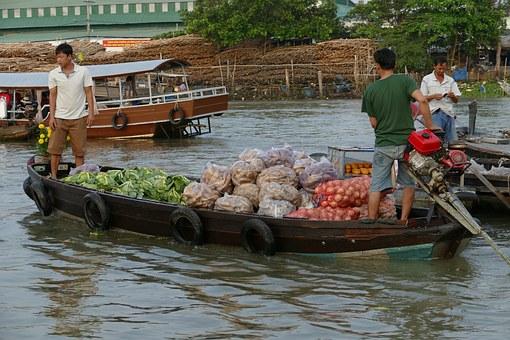 2018去越南芹苴水上市场玩一玩