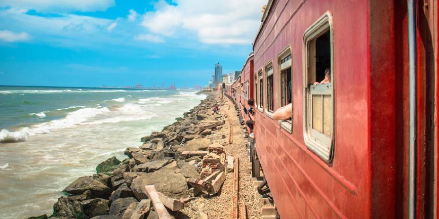 斯里兰卡海上火车