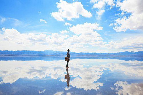 茶卡盐湖是柴达木盆地四大盐湖中